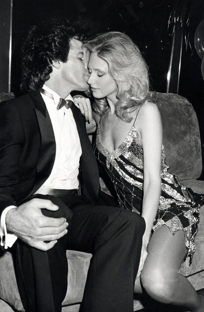 Craig Denault and Morgan Fairchild cozy up during a New Year's Eve party at Regine's in 1982.