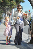 Violet Affleck followed Jennifer Garner to their car.