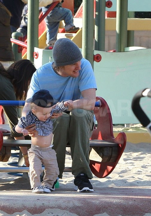 Owen Wilson picked up his son, Robert.