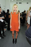 Kate Bosworth channeled Twiggy in Calvin Klein during NYFW in February 2011.