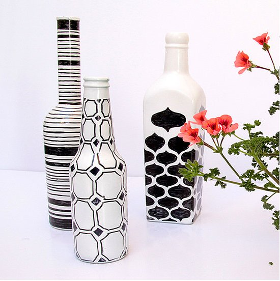 Turn some boring old wine bottles into something positively crave-worthy with a little paint and pattern. Find out more details on Creative Jewish Mom. Source: Creative Jewish Mom