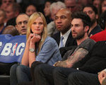 Adam Levine and Anne V. at Staples Center