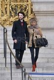 Sienna Miller and Tom Sturridge stepped out in Paris.