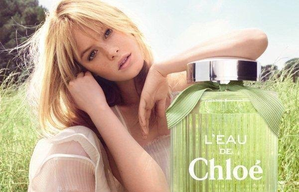 Camille Rowe shines in easy elegance for Chloé's L'Eau de Chloé fragrance campaign. Source: Fashion Gone Rogue
