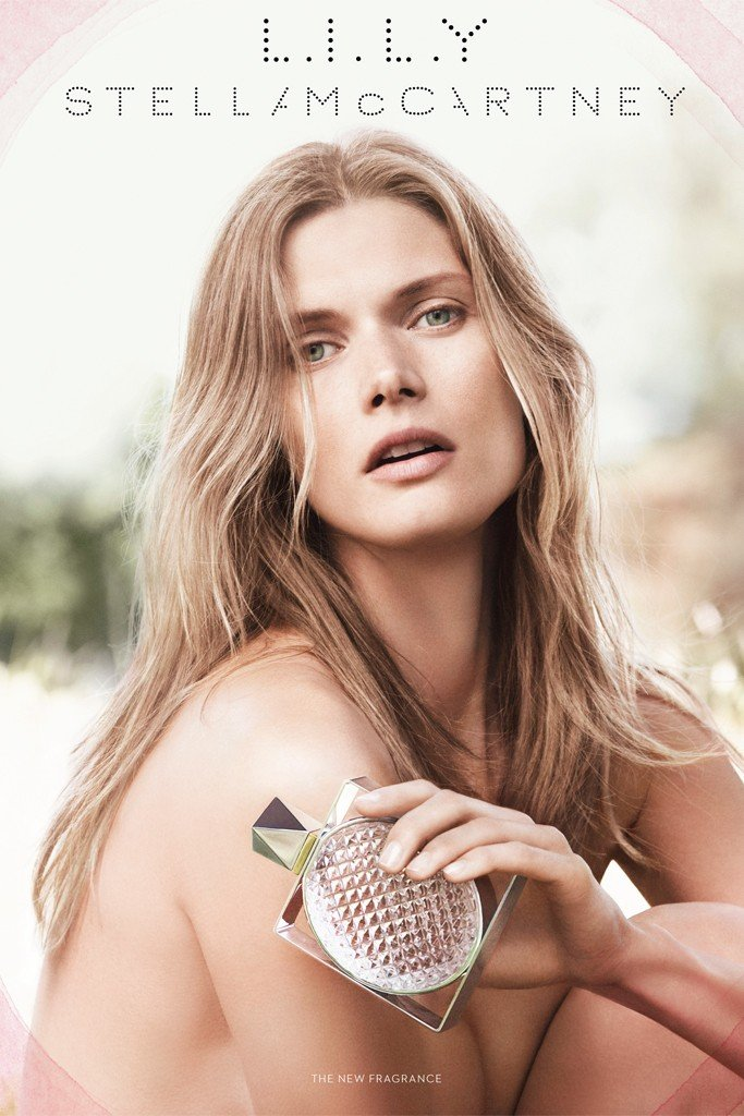Malgosia Bela looks gorgeous in Stella McCartney's L.I.L.Y. fragrance ads. Source: Fashion Gone Rogue