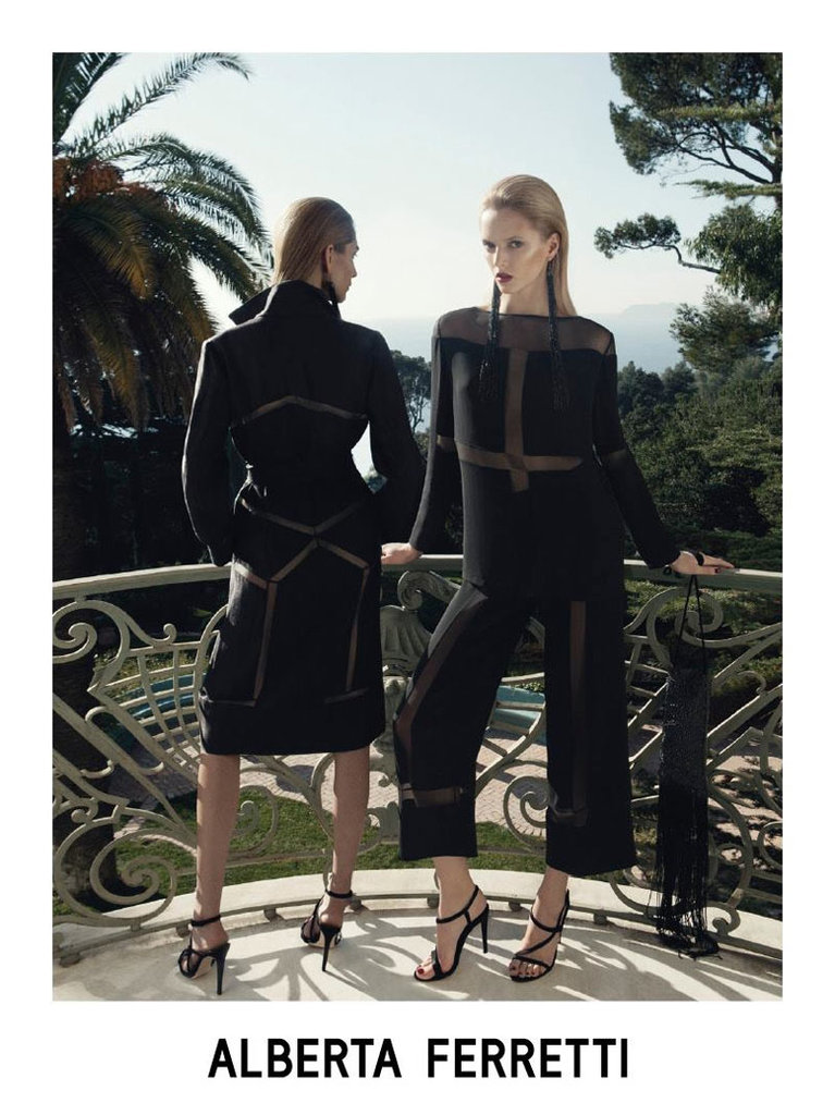 Daria Strokous and Janice Alida look stylish and sunkissed in Alberta Ferretti's Spring campaign. Source: Fashion Gone Rogue