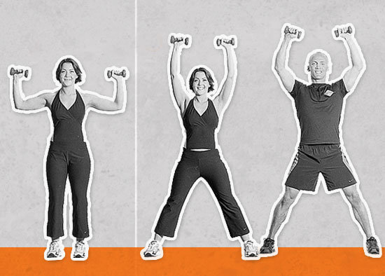 Jumping Jacks With Shoulder Presses