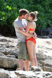 Liam Hemsworth and Miley Cyrus kissed in Hawaii.