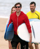 John Krasinski was a happy camper in Hawaii.