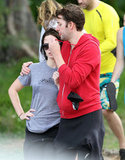 Emily Blunt cozied up to John Krasinski.
