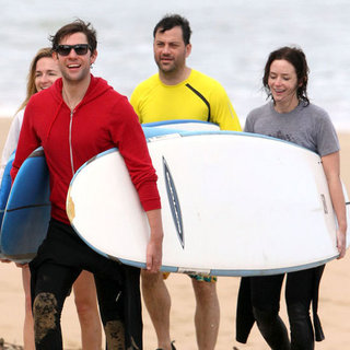John Krasinski and Emily Blunt Surfing With Jimmy Kimmel
