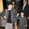 The Beckhams Leave Claridge&#039;s Hotel on NYE Pictures