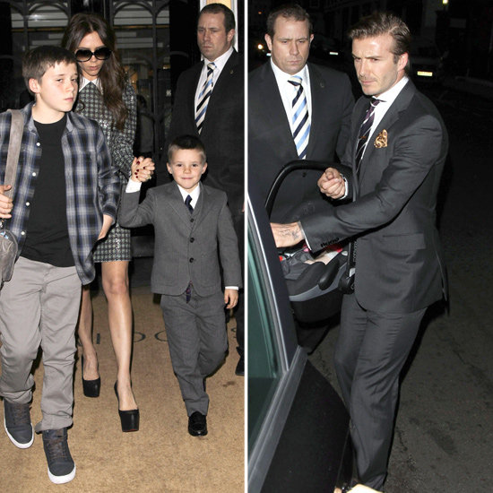 The Beckhams Leave Their London Hotel in High New Year's Eve Style