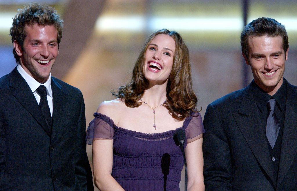 Alias stars Jennifer Garner, Bradley Cooper, and Michael Vartan accepted the award for favorite new television dramatic series in 2002.
