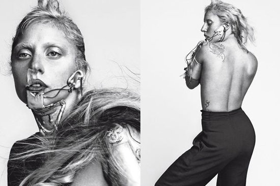 Lady Gaga Gets Stripped Bare in L'Uomo Vogue