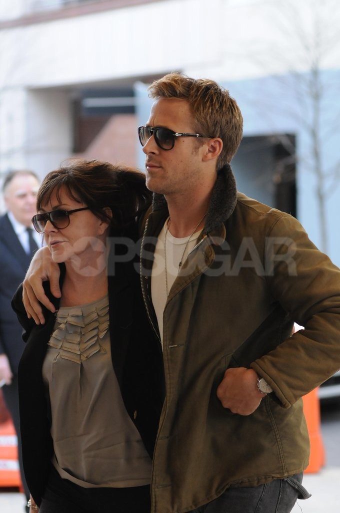 Ryan Gosling was happy to spend the day with his mother, Donna Gosling.