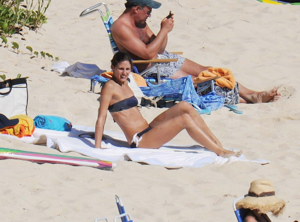 Olivia Palermo tanning in St. Barts.
