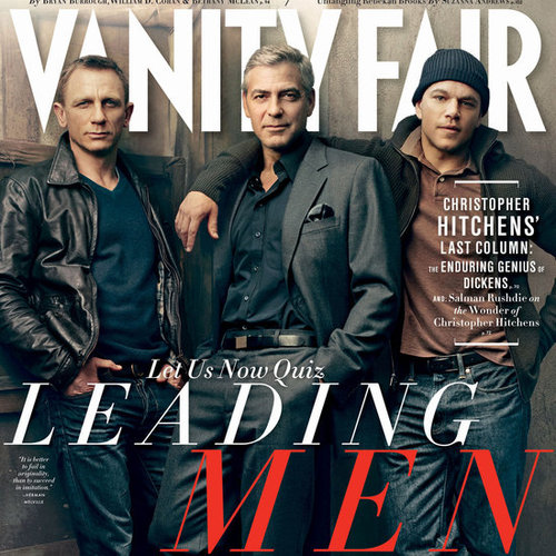 Vanity Fair Zones In on Matt Damon, George Clooney and Daniel Craig For The February 2012 Issue