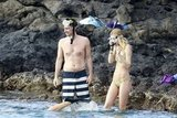 Zach and girlfriend, Taylor, eased their way into the ocean.