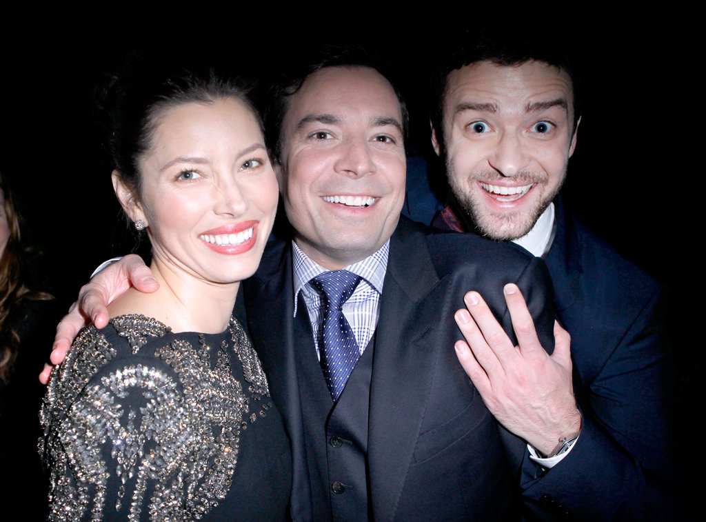 Jessica Biel and Justin Timberlake hung out with Jimmy Fallon during a November 2011 event in LA.