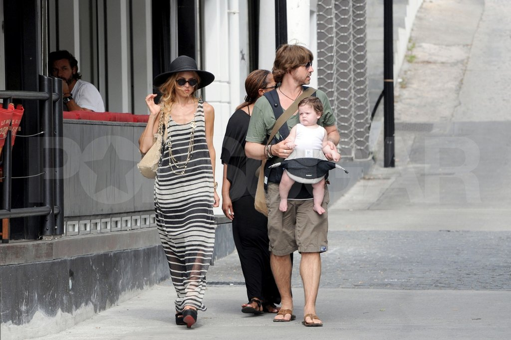 Rachel Zoe walked in St. Barts with Rodger Berman and Skyler Berman.