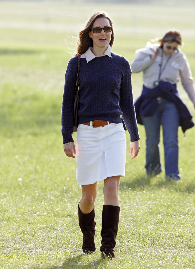 Kate Middleton's laid-back style was on display for the Badminton Horse Trials in May 2007.