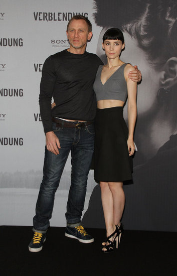 Rooney Mara Shows Tummy in a Two-Piece Dress Alongside Daniel Craig