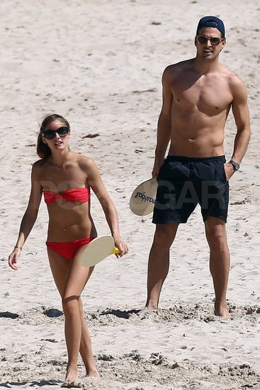 Bikini-Clad Olivia Palermo Gets Physical on the Beach With Her Shirtless Boyfriend