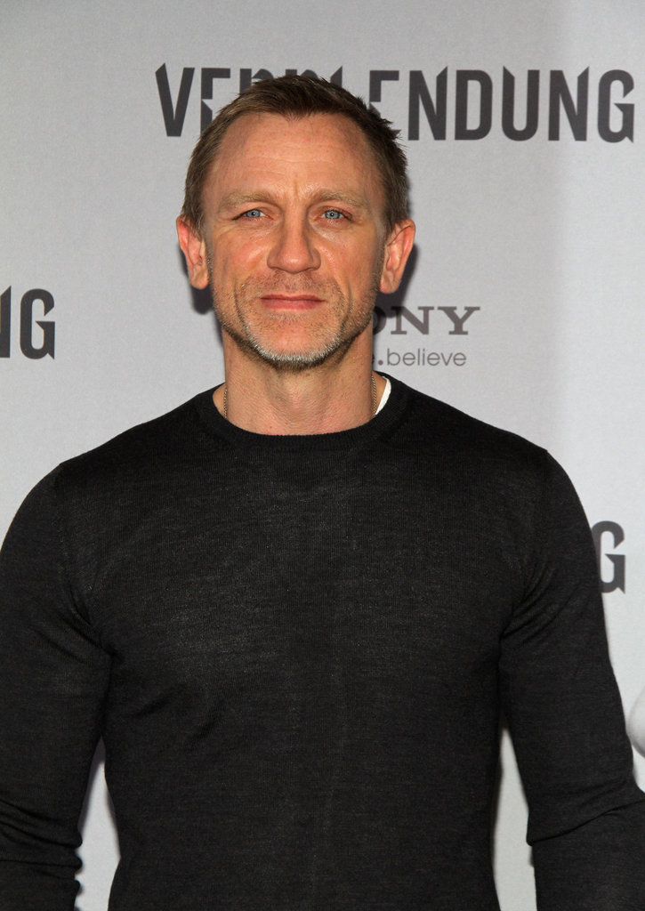 Daniel Craig looked handsome in a black crew-neck shirt in Berlin.