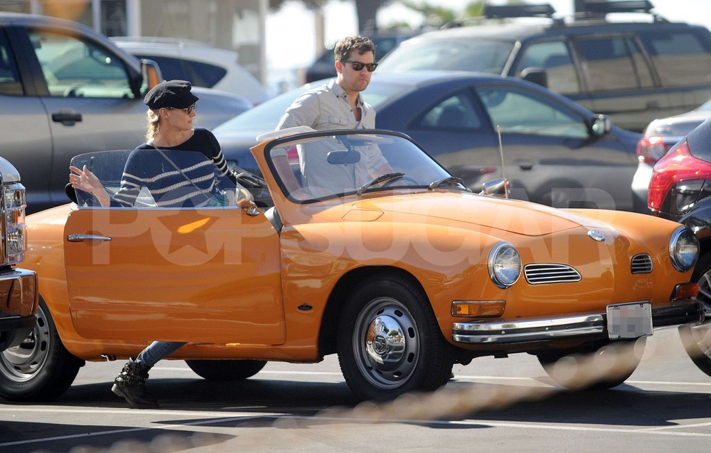 Diane Kruger and Joshua Jackson took off in their vintage vehicle.
