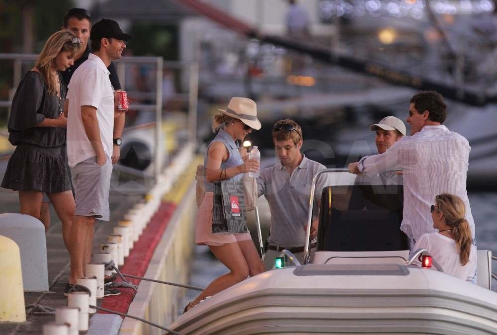 Ryan Seacrest and Julianne Hough in St. Barts.