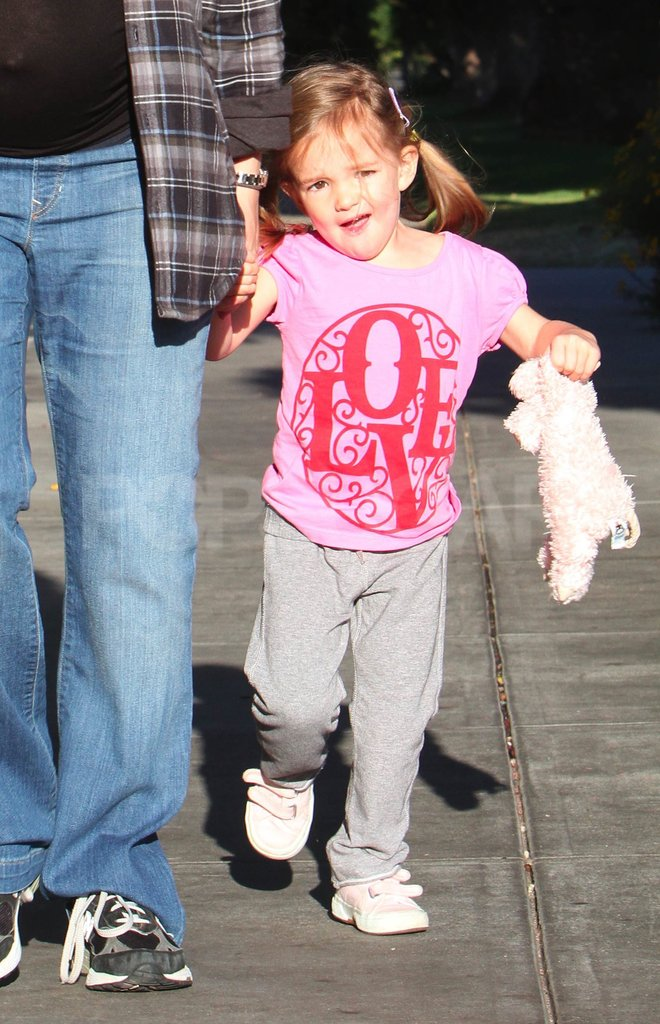"Seraphina Affleck wore a ""Love"" shirt."