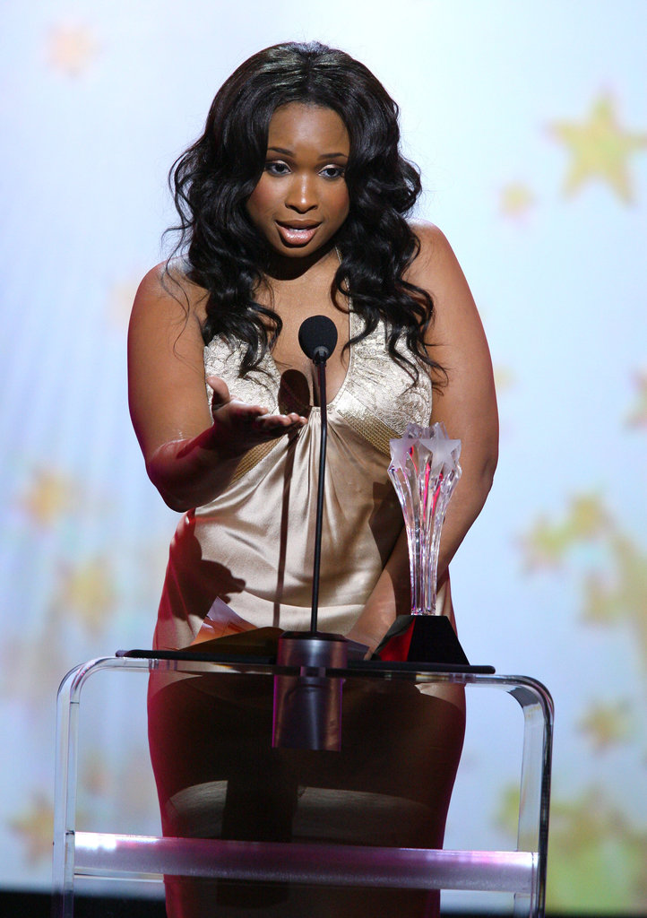 Jennifer Hudson accepted the best supporting actress award for her role in Dreamgirls during 2007.