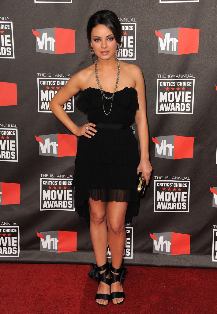 Mila Kunis rocked a short and sweet Nina Ricci dress on the red carpet in 2011.