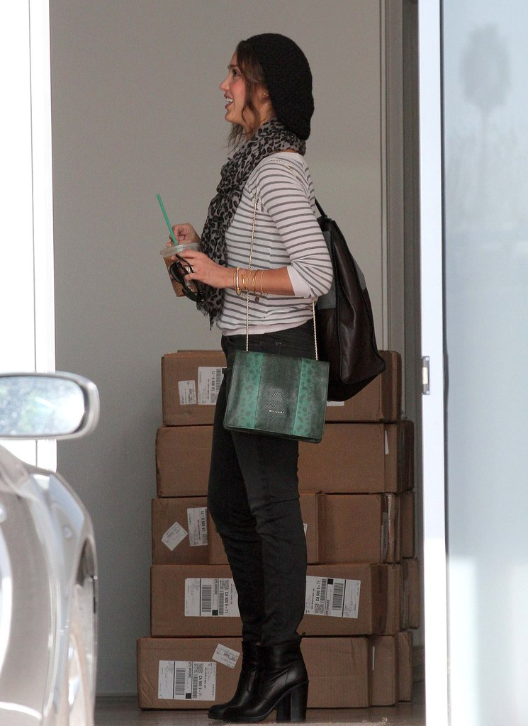 Jessica Alba ran errands around LA.