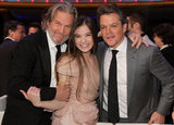 Jeff Bridges and Matt Damon posed with award winner Hailee Steinfeld at the 2011 show.