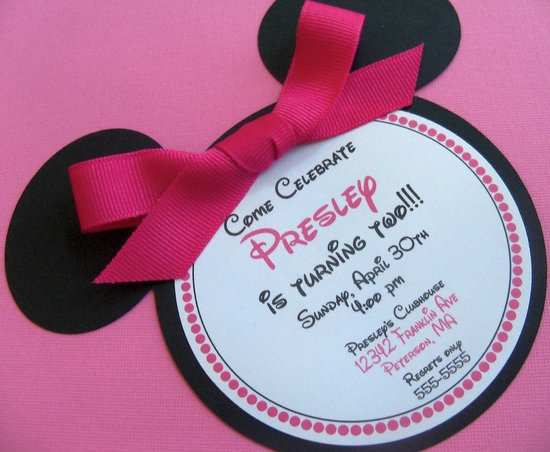 Minnie Mouse 2Nd Birthday Invitation Wording was luxury invitations template