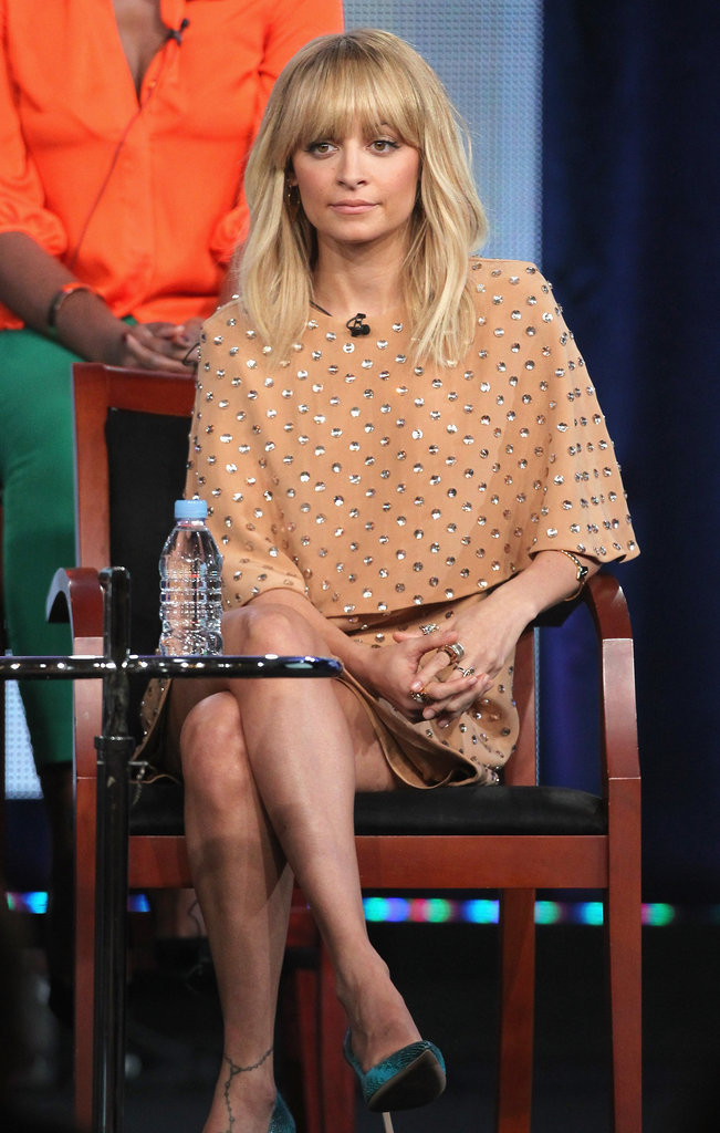 Nicole Richie on stage at the TCAs.