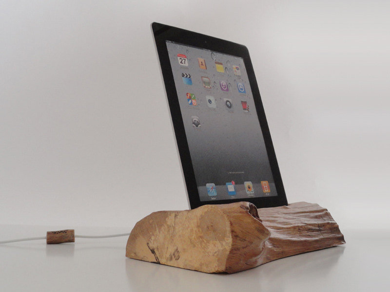 Wooden docking station.