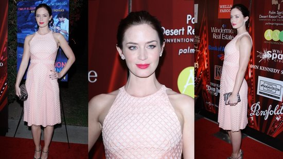 Emily Blunt Kicks Off Awards Season in Pink!