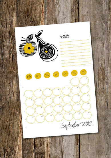 Sweet Vintage Calendar For 2012 ($6)