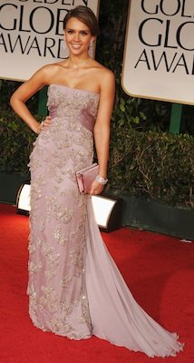 Designer of Jessica Alba's Dress, Shoes at Golden Globes