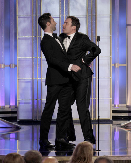 Adam Levine and Jimmy Fallon