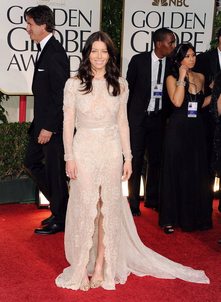 Jessica Biel at the 2012 Golden Globe Awards.