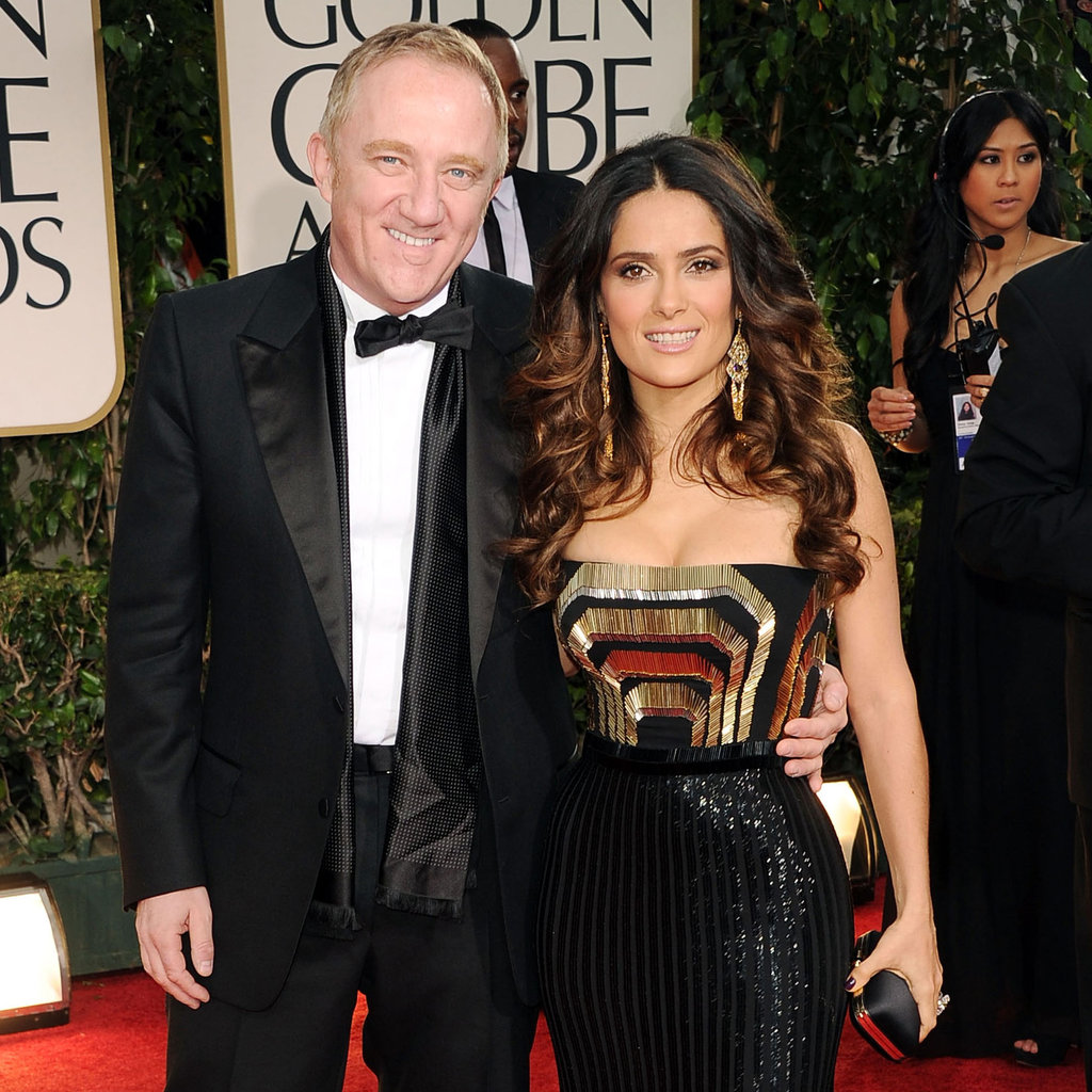 Salma Hayek and Francois-Henri Pinault at the Golden Globes.