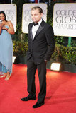 Leonardo DiCaprio arrived at the 2012 Golden Globe Awards.