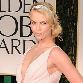 Charlize Theron Pictures at Golden Globes 2012