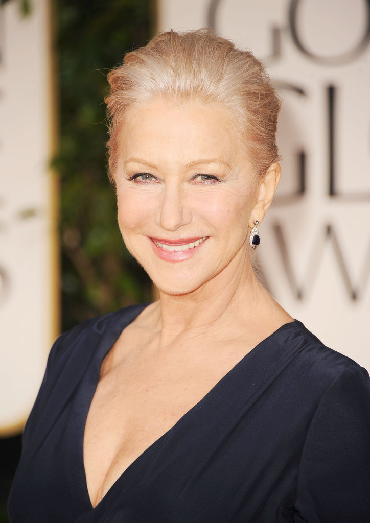 Helen Mirren at the Golden Globes.