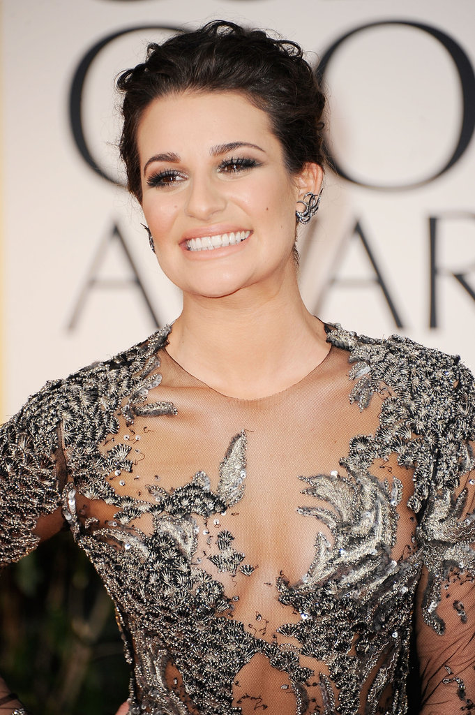 Lea Michele at the Golden Globes.