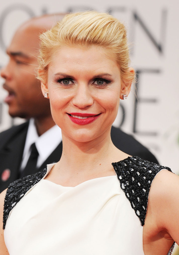 Claire Danes at the Golden Globes.